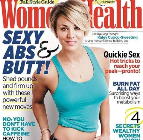 Kaley Cuoco Women's Health Cover