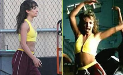 Lea Michele Channels Britney Spears For Glee