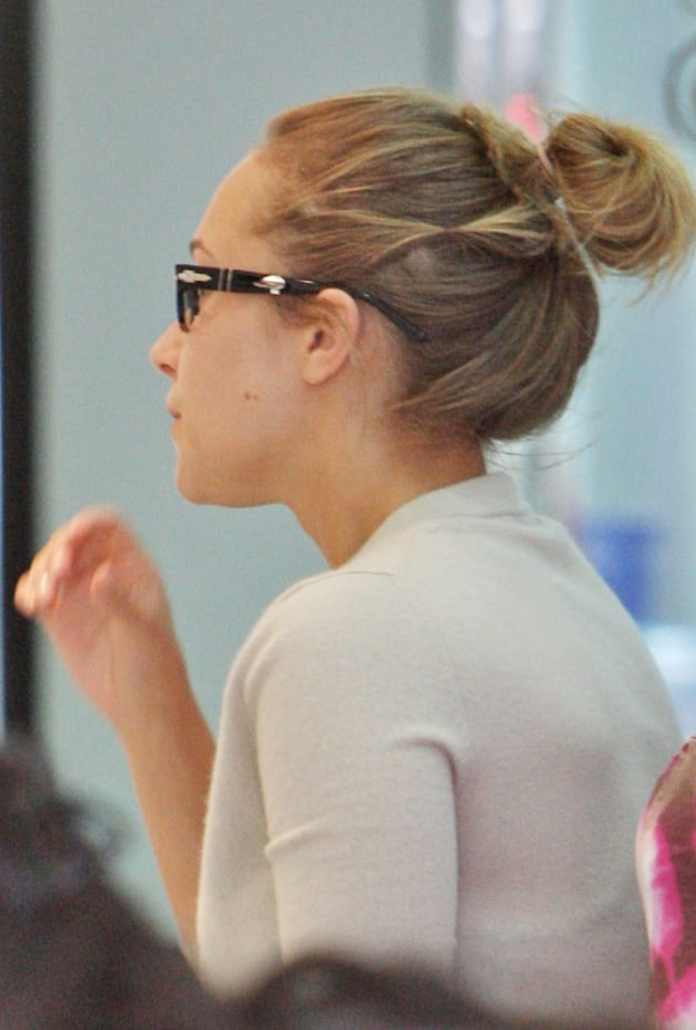 Hayden Panettiere In Glasses With A Bun