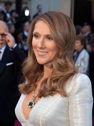 Celine Dion at the Oscars