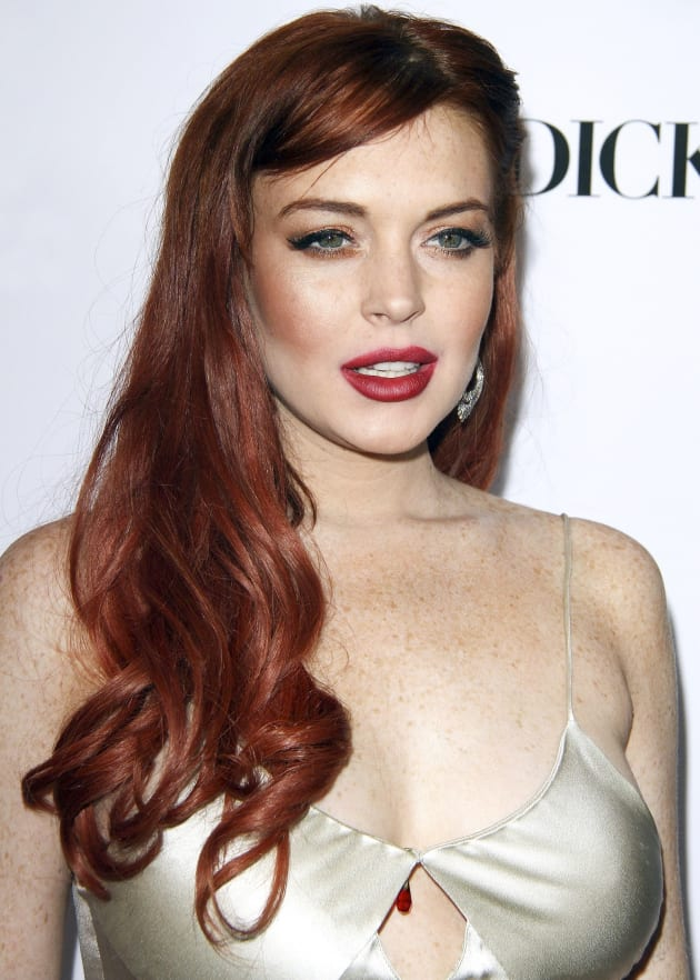 Spaced Out Lindsay Lohan