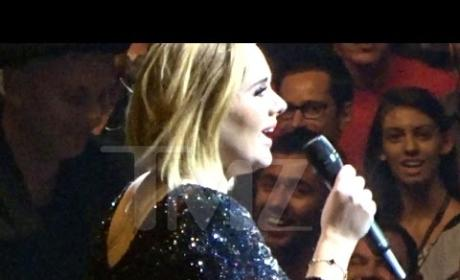 Adele Gives Concert Shout-Out to Brangelina