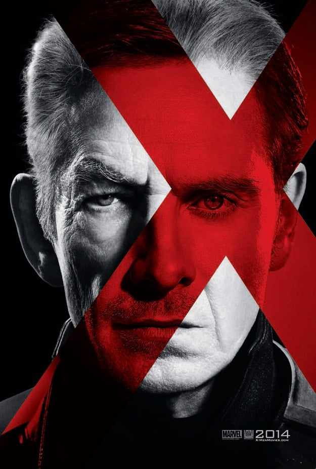 Sir Ian McKellen and Michael Fassbender in X-Men: Days of Future Past Character Poster
