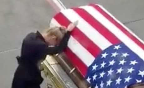 Army Widow Breaks Down Over Casket: Watch the Heartbreak