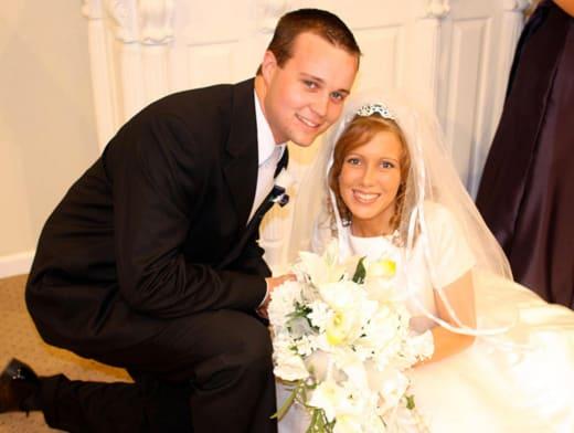 Josh and Anna Duggar on Their Wedding Day