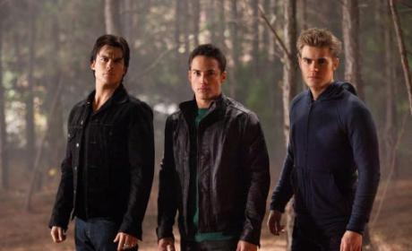 Ian Somerhalder, Michael Trevino and Paul Wesley