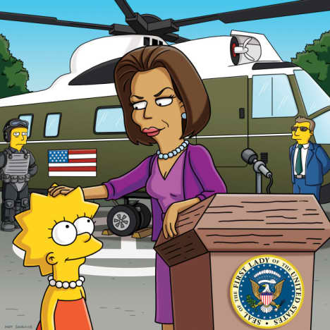 Michelle Obama and Lisa Simpson