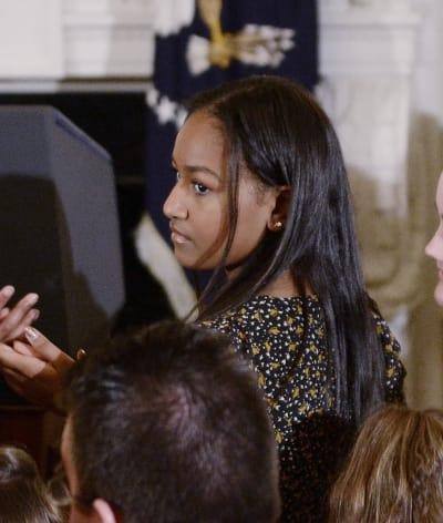 Sasha Obama in the White House