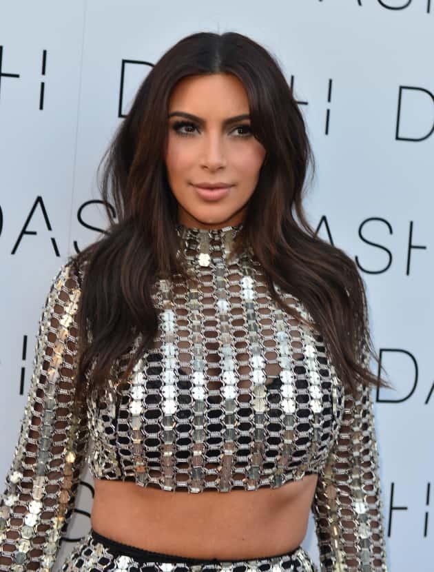 Kim Kardashian Sparkly Photo