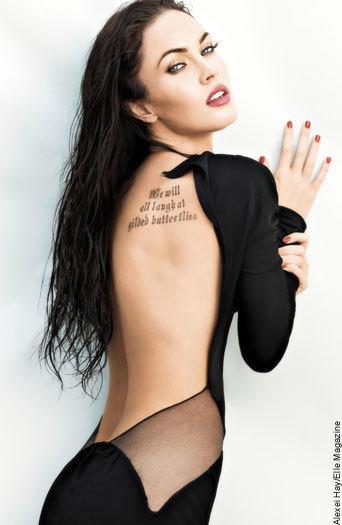 Megan Fox, Tattoo Pic