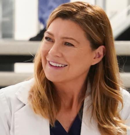 Ellen Pompeo as Meredith on Grey's Anatomy