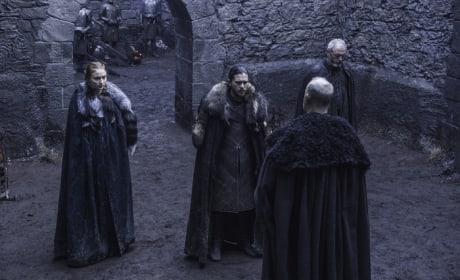 Jon, Sansa and Ser Davos