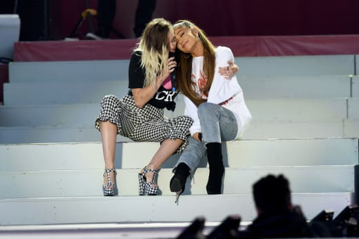 Ariana Grande and Miley Cyrus on Stage