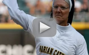 Nun Fires Perfect First Pitch Strike, Should Probably Be Signed by the White Sox