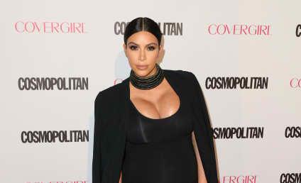 Kim Kardashian Sucks, Talks Up Post-Baby Weight Loss
