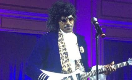 "LeBron James Dresses as Prince, Sings ""Purple Rain"""