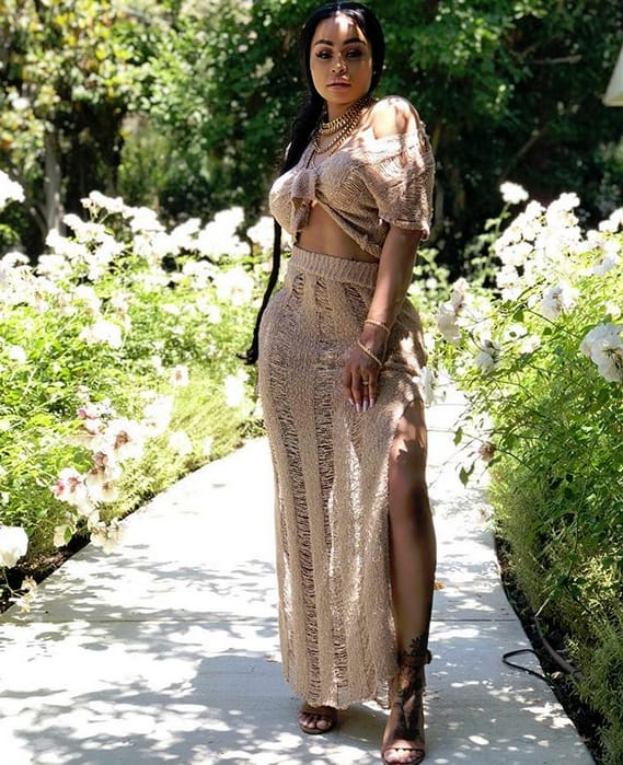 Blac Chyna Among the Flowers
