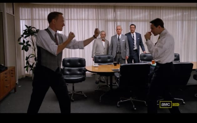 Lane Price and Pete Campbell Fight