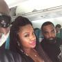 Peter Thomas, Kandi Burruss & Todd Tucker Looking Great On Flight