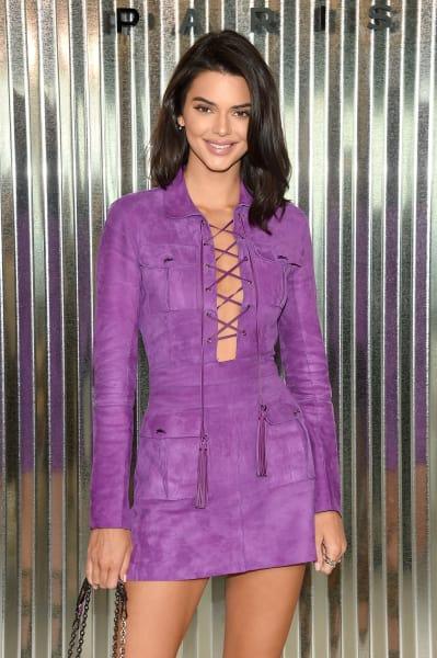 Kendall Jenner in Purple