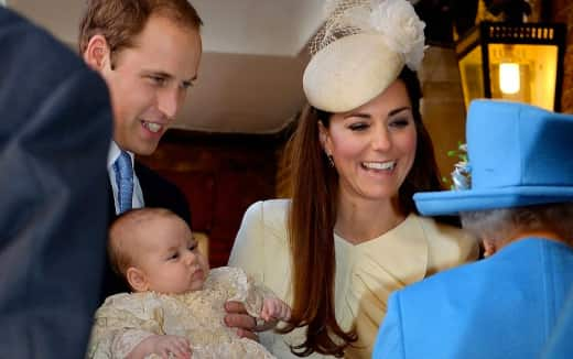 Kate, William and Prince George