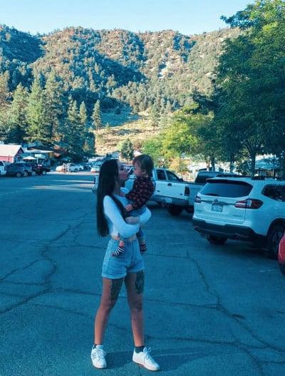 Deavan Clegg Holds Baby Taeyang in Utah