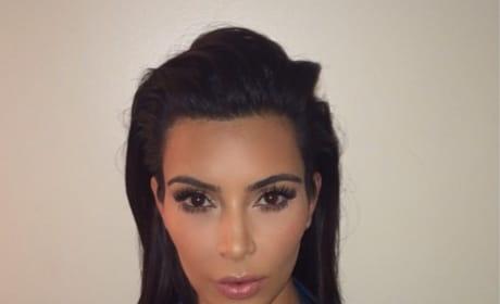 Kim Kardashian Passport Photo