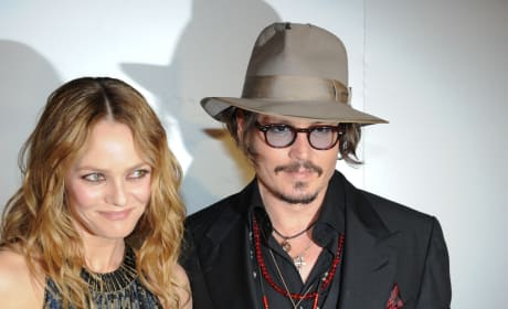 Vanessa Paradis with Johnny Depp