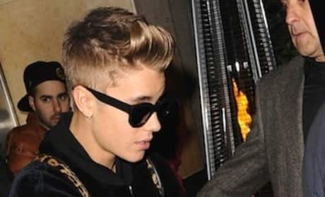 Justin Bieber Parties in London