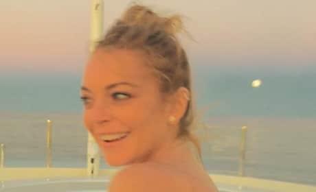 Lindsay Lohan: Topless on a Yacht