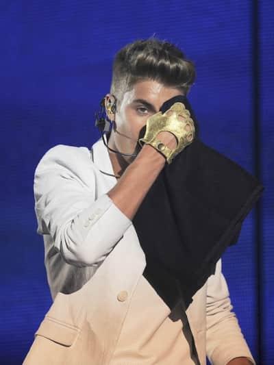 Sweaty Justin Bieber