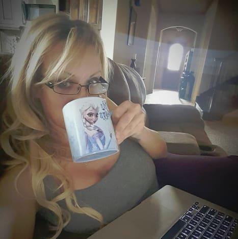 Stormy Daniels Drinks Coffee