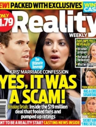 Kim Kardashian on Reality TV Weekly Magazine