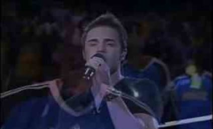 Kris Allen Performs National Anthem