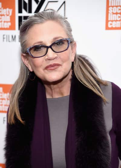 Carrie Fisher Red Carpet Pic