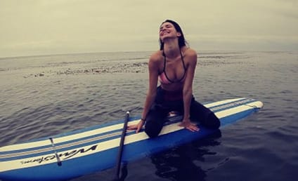 Kendall Jenner Poses on Paddleboard, Flaunts Cleavage