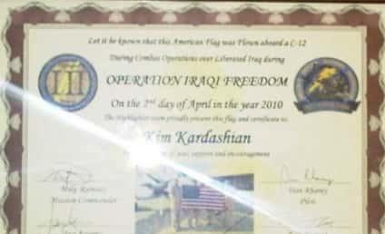 American Troops Honor Kim Kardashian