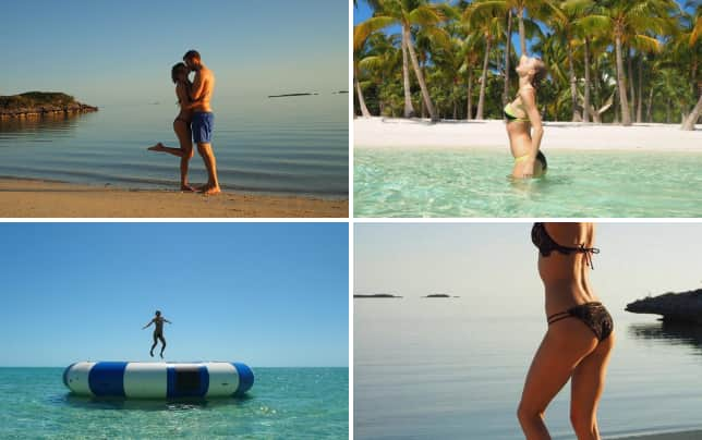 Taylor swift and calvin harris on vacation