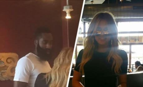 James Harden and Khloe Kardashian