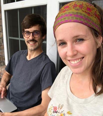 Jill, Derick, and Derick's Mustache