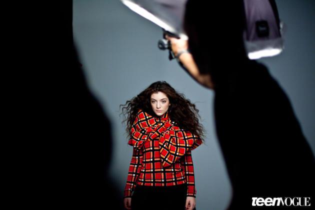 Lorde Behind the Scenes Pic