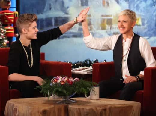 Justin Bieber High-Five