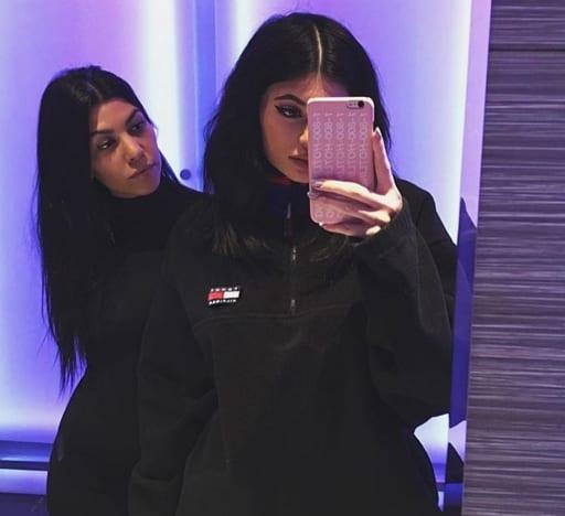 Kourtney Kardashian and Kylie Jenner Selfie
