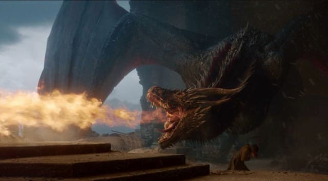 Did drogon think the pointy chair killed his mom or was he keenl