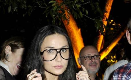 Demi Moore, Large Glasses