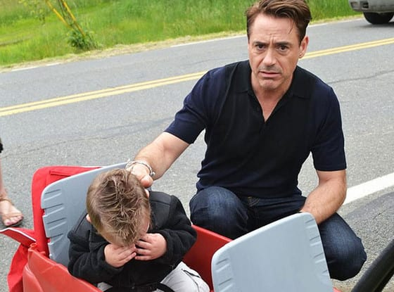 Robert Downey Jr. and Crying Kid