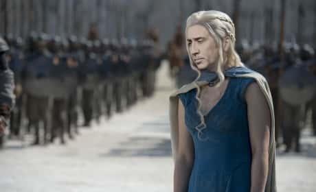 Nicolas Cage as Daenerys Targaryen