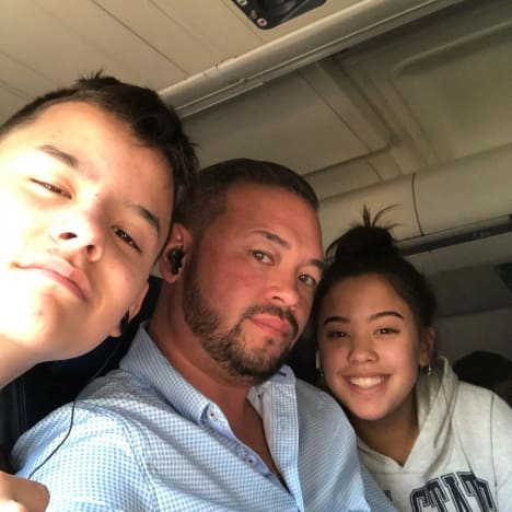 Collin Gosselin, Jon Gosselin, and Hannah Gosselin in St. Croix