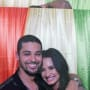 Wilmer Valderrama and Demi Lovato with Caption