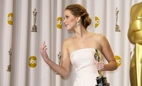 Jennifer Lawrence Middle Finger